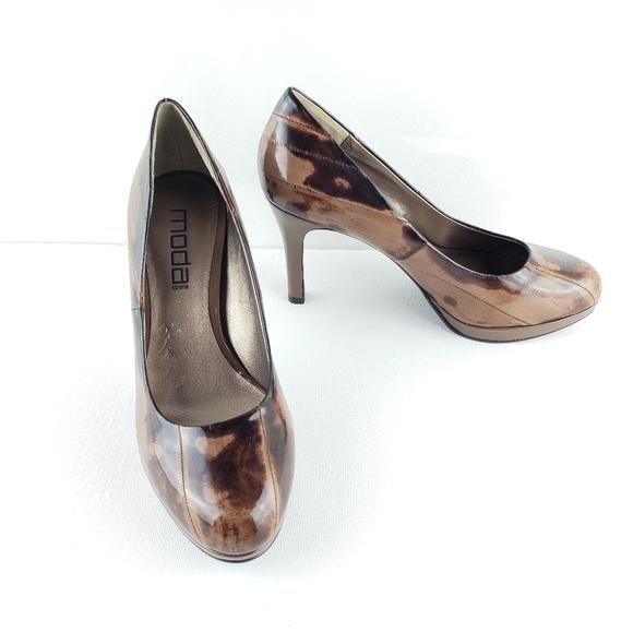 Moda Spano Brown Heel Pump